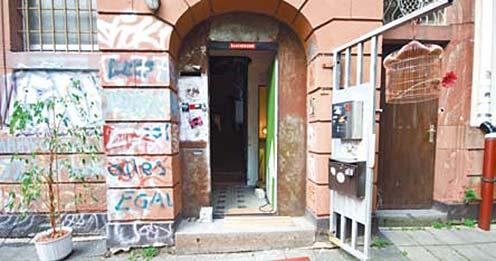 Vorübergehend besetzt, aber offen für Kultur: Das ehemalige JUZ in Frankfurt-Bockenheim.